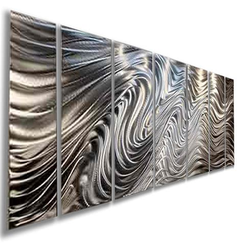 modern metal wall sculpture modern abstract silver corporate metal wall sculpture original jon allen ebay