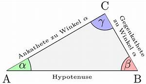Trigonometrie Seiten Berechnen : rechtwinkliges dreieck wikipedia ~ Themetempest.com Abrechnung