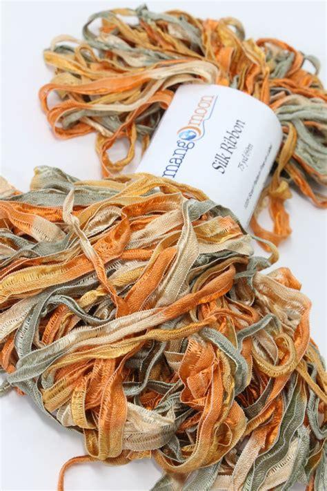 mango moon yarn silk ribbon earth