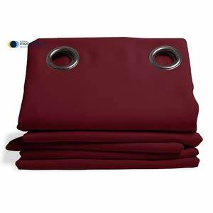 Rideau Thermique Hiver : rideau isolant thermique hiver couleur grenat 145x260 ~ Premium-room.com Idées de Décoration