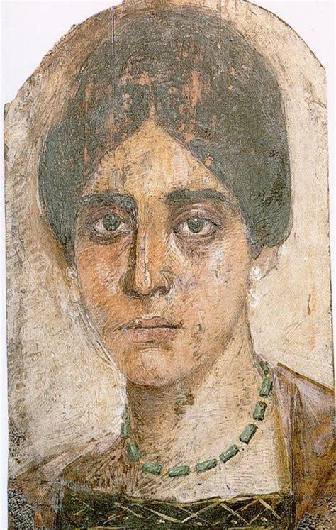 ritratti del fayyum mostrano  volti degli abitanti dell