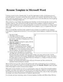 word document templates resume resume templates word vnzgames