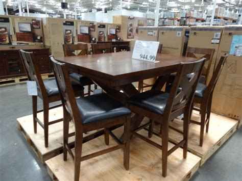 costco dining table in store charleston 9 piece counter height dining set
