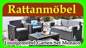 Günstige Gartenmöbel Set : loungem bel garten set monaco guenstige rattan gartenmoebel f r terrasse garten und balkon ~ Markanthonyermac.com Haus und Dekorationen