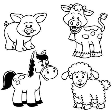 baby farm animal coloring pages farm coloring pages