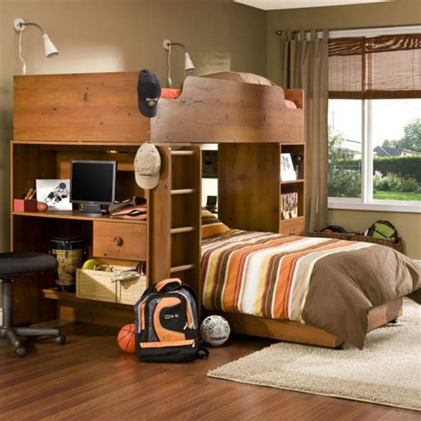 bureau chambre gar n le lit mezzanine avec bureau est l 39 ameublement créatif