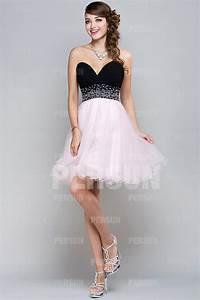 chic robe bicolore rose et noir a bustier coeur taille With robe de cocktail combiné avec bijoux comme pandora