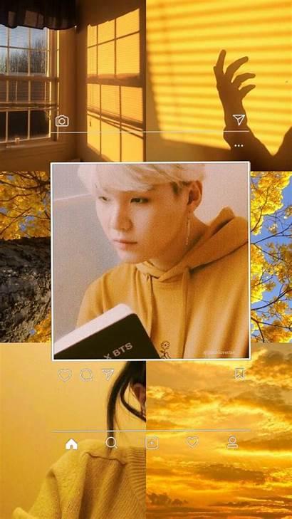 Yoongi Yellow Bts Min Lock Screen Suga