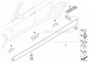 12 Pieces Bmw E36 E46 E90 E91 Side Skirt    Rocker Panel
