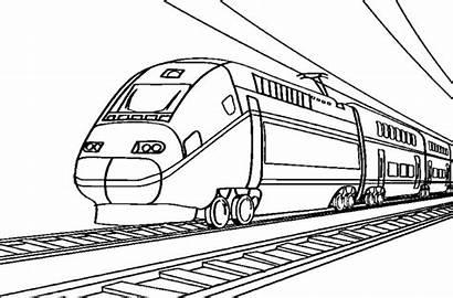 Train Dessin Coloriage Treno Imprimer Locomotive Colorare