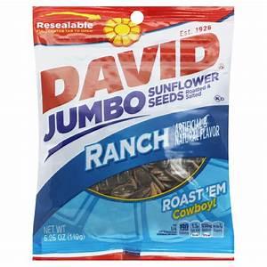 David Sunflower Seeds, Jumbo, Ranch, 5.25 oz (149 g ...