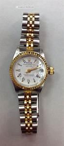Rolex Uhr Oyster Perpetual Date Just Damenuhr Stahl Und Gold