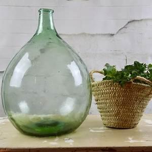 Bonbonne En Verre Dame Jeanne : dame jeanne bonbonne vase forme bouteille en verre recycl vert ~ Farleysfitness.com Idées de Décoration