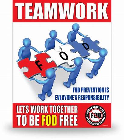 Posters Fod Poster Teamwork Foreign Object Debris