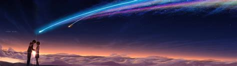 Animation 3d Name Wallpapers Editing by 3840x1080 Kimi No Na Wa Your Name Hastily Done Dual