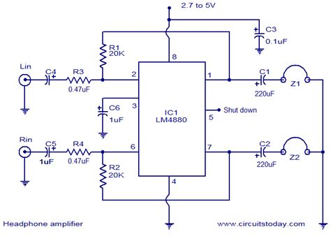 Hifi Headphone Amplifier Circuit Electronic Circuits