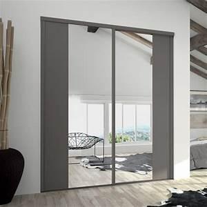 Porte Coulissante Miroir Sur Mesure : portes de placard coulissantes kontrast miroir argent et ~ Premium-room.com Idées de Décoration