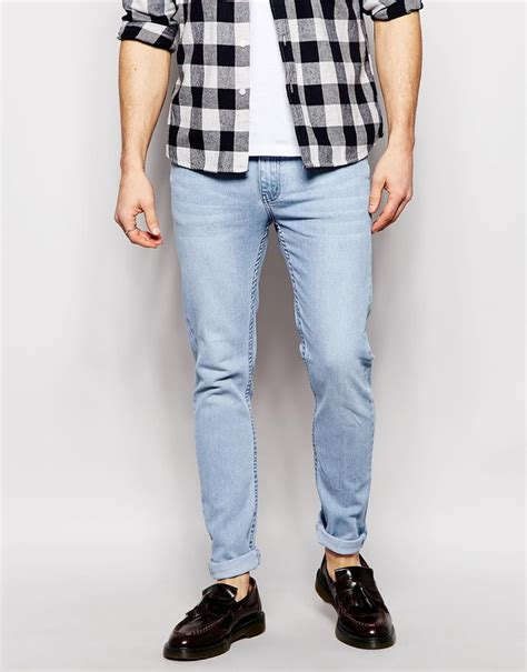cheap light blue skinny jeans cheap monday jeans tight skinny fit aniara light bleach