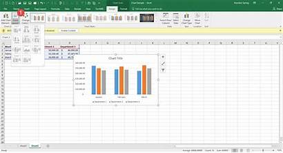Chart Excel Layout Button Change Quick Creating