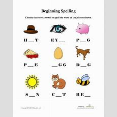 Beginning Spelling  Worksheet Educationcom