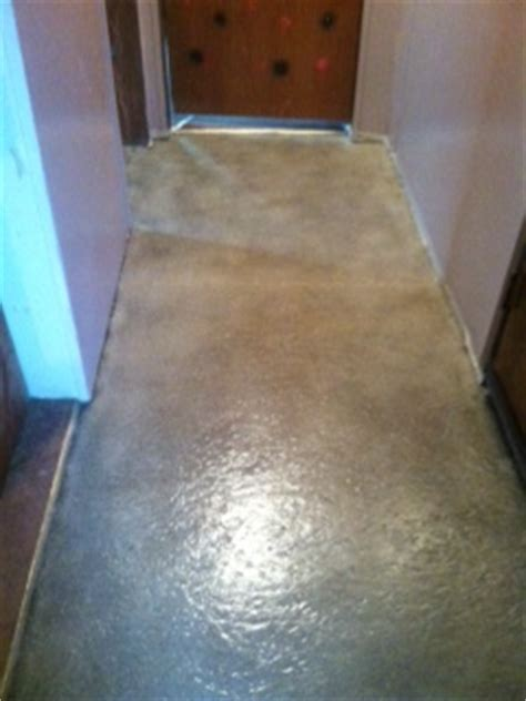 hometalk particle board floor turned   stone