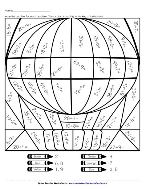 multiplication and division coloring pages coloring pages