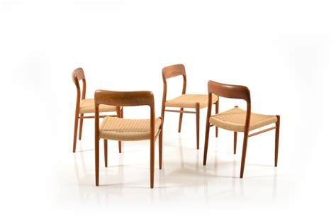 set of 4 dining chairs by niels o m 248 ller room of
