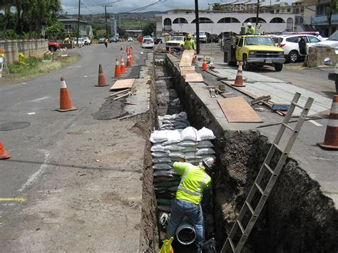 construction bureau waimalu sewer rehabilitation reconstruction community