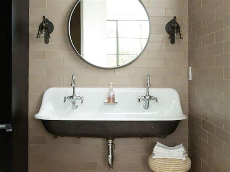 Kohler Trough Sink Bathroom by Kohler Brockway Trough Sink With Mirror And