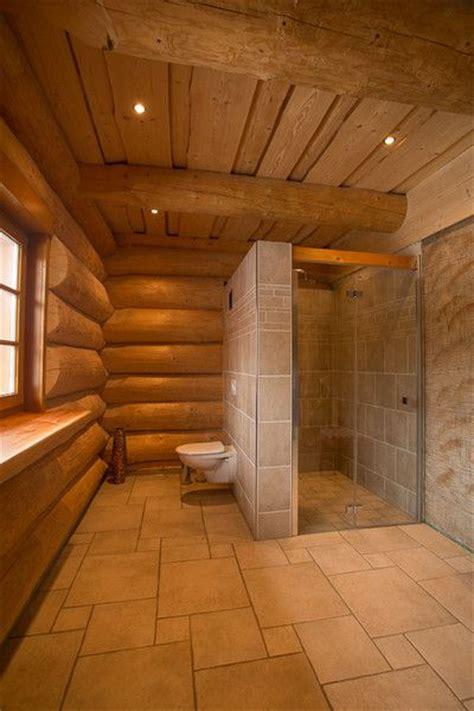 naturstammhaus blockhaus bad badezimmer