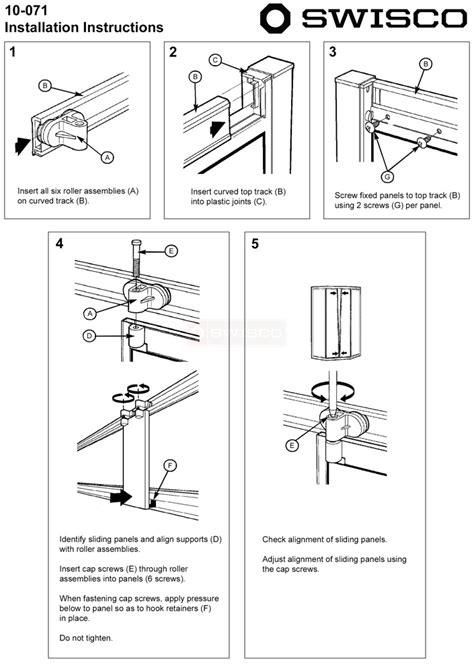 installation instructions     shower door