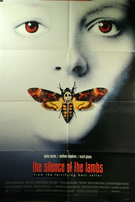 silence   lambs anthony hopkins  poster