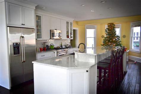 carrara marble kitchen island carrara marble kitchen island traditional kitchen philadelphia by colleen brett