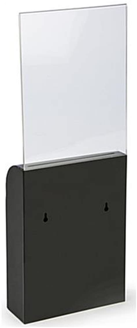 black wall mount document box   acrylic sign holder