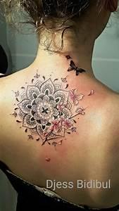 Fleur De Cerisier Tatouage : tatouage mandala avec fleur de cerisier dos par ~ Dode.kayakingforconservation.com Idées de Décoration