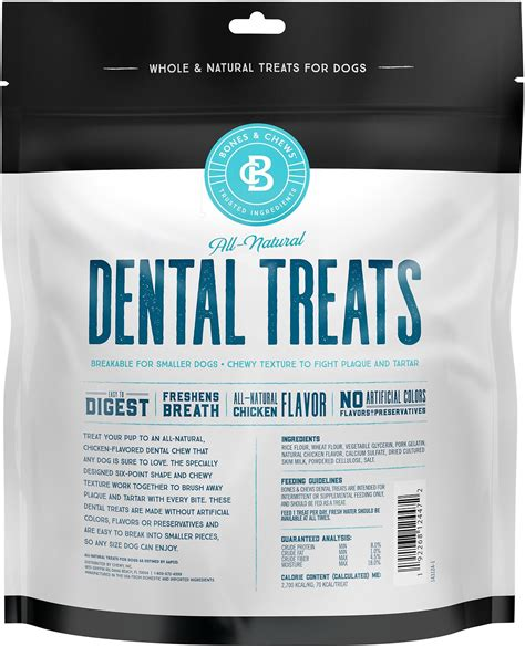 bones chews  natural dental chew sticks  count