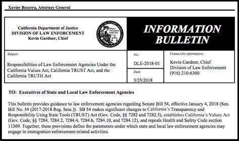 ag becerra clarifies immigration enforcement rules