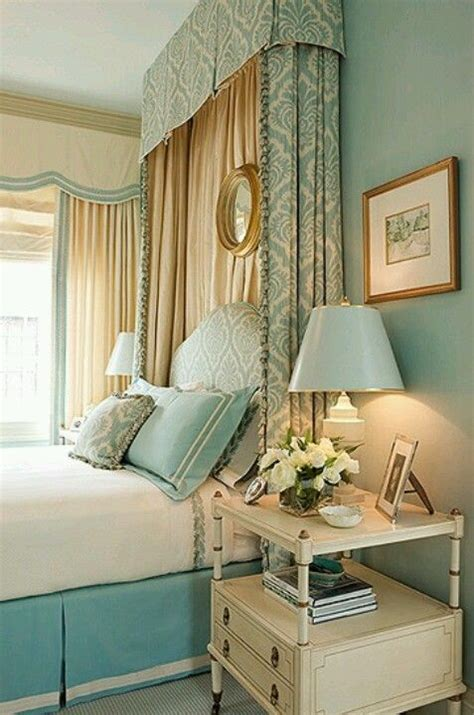 Aqua, Gold And White Bedroom I Am Thinking About This