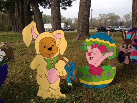 winnie  pooh easter yard art  diy projects party