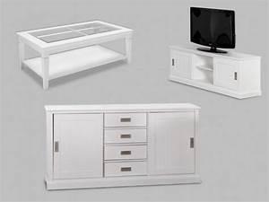 Meuble Tv Buffet : pack bord de mer buffet meuble tv et table basse ~ Teatrodelosmanantiales.com Idées de Décoration
