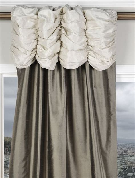 White And Silver Valance by Ruched Valance Curtains Pearl White Header Silver Grey