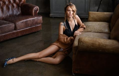 wallpaper girl pose model tattoo legs anastasia