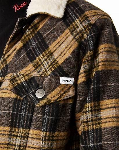 Plaid Womens Rvca Jacket Sherpa Jackets Clothing