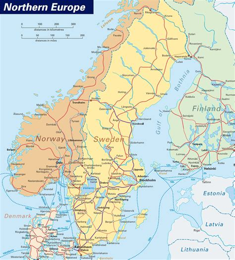 map  northern europe northern europe political map