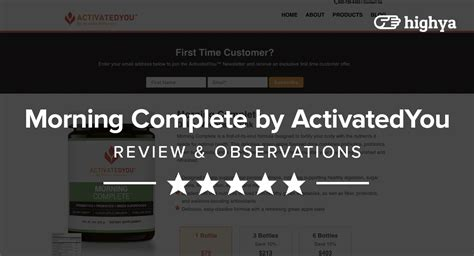 Morning Complete By Activatedyou Reviews  Is It A Scam Or