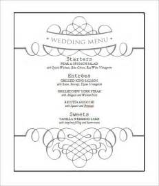 free wedding menu templates wedding menu template 28 in pdf psd word vector illustration eps