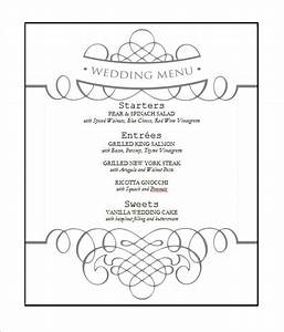 wedding menu template 31 download in pdf psd word With wedding menu samples templates