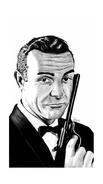 Drawing Bond James Sean Connery Dlay