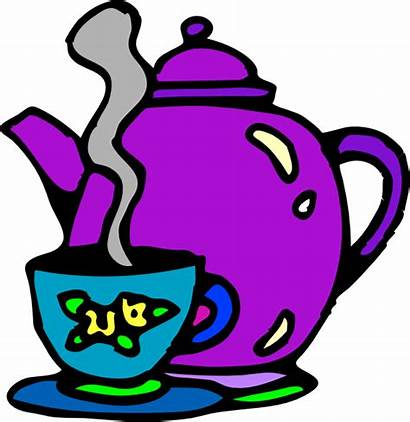 Tea Kettle Cup Clip Clipart Teapot Clker