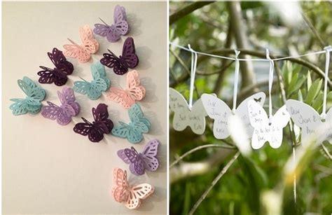 diy butterflies wedding theme ideas